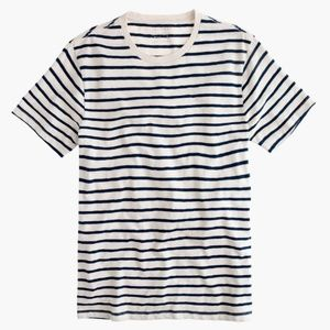 J. Crew Slub Cotton Deck-Striped T-shirt size XL